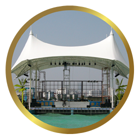 PVC Coated Fabrics Tensile membrane structures Manufacturer, Supplier, Exporter Mumbai-India