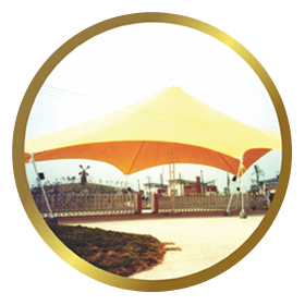 Tents and Temporary Roofing PVC Fabrics Tensile Structure Manufacturers, Suppliers and Exporters from Mumbai-India