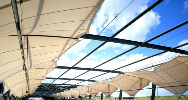 Pvc Coated Fabrics Tensile Membranes Structures For Solar